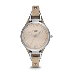 Fossil Georgia Bone Leather Women's Watch - Brown-Beige