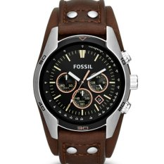 Fossil Jam Tangan Pria Fossil CH2891 Coachman Chronograph Brown Leather Watch