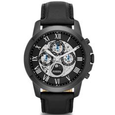 Fossil Jam Tangan Pria Fossil ME3028 Grant Automatic Black Leather Watch