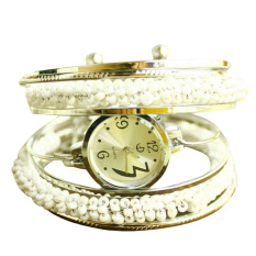 Functional Unique wound bead bracelet watch Lady fashion