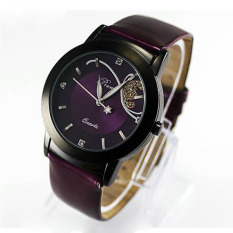 Fashion Lady Girl Women Luxury Diamond Pretty Quartz Wrist Watch Purple