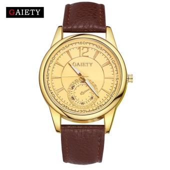 GAIETY G126 Women Fashion Leather Band Analog Quartz Round Wrist Watch Watches Brown - intl