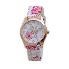 Garden Wind Pattern Silicone Watch (Pink)