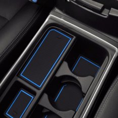Gate Slot Mats For For Honda Crv 2015-2016 Mat Storage Tank Pad Interior Decoration Car Styling BLUE 16* - Intl