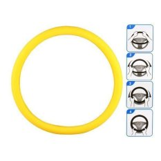 Generic A825 Vehicle Silicone Steering Wheel Case Yellow
