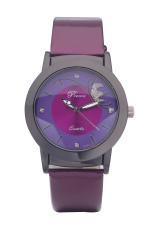 Dalas JD302 Fashion Vintage Women Simple Design Leather Strap Quartz Wristwatches (Red) (Intl)