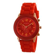 Geneva Ladies Cosmo Jam Tangan Wanita - Resin - Merah - GNV LC 0086 Red