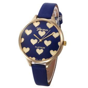 Geneva Love Jam Tangan Fashion Stylist -Biru-