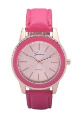 Womage New Rhinestone Brand Luxury Creative Crystal Watch Ladies Fashion Dress Quartz Wristwatches (Rose Red) (Intl)