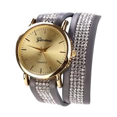 Geneva Quartz Women Casual Analog PU Leather Brand Fashion Wristwatch NO.8 (Intl)