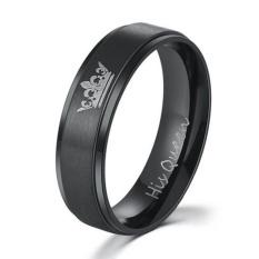 GOOD Unique Men Women Couples Titanium Steel Ring Wedding Engagement Ring Jewelry 6# - intl