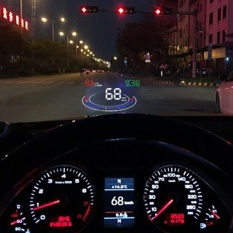 Gophly E300 5.5 inch Car Digital Speedometer hud obd2 head up display Car Speed Projector Windshield Overspeed Alarm Safe Driving Fuel Consumption fatigued driver reminder low voltage alarm etc. Accessories - intl