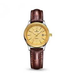 Goplm Saint Fashion Leather Watch Watch Ms. Jarno Quartz Fine Waterproof Watch T5001 (1 X Women Watch)