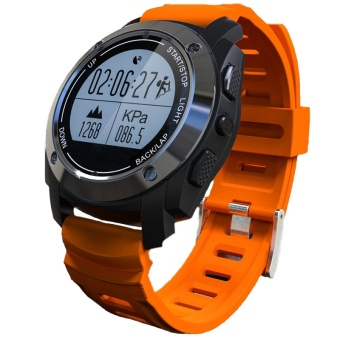 GPS Sport Smart Watch With Bluetooth G-sensor Heart Rate CompassBarometer Thermometer for Android IOS - intl