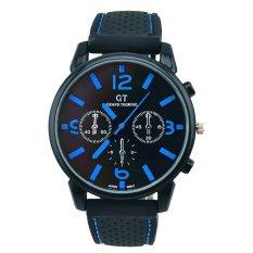 GT WATCH Mens Analog Silicone Stap Quartz Watch (Blue) - Intl