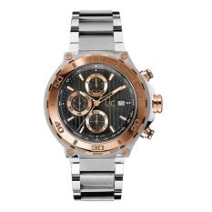 GUESS COLLECTION Gc BOLD X56008G2S - Chronograph - Jam Tangan Pria - Stainless - Silver - Rose Gold - Black