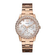 Guess - Jam Tangan Wanita - Rosegold-Putih - Stainless Steel - W0335L3