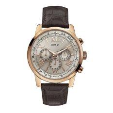 Guess W0380G4 Chronograph - Jam Tangan Pria - Coklat - Kulit