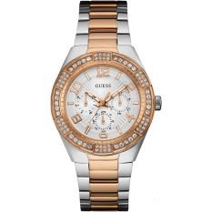 Guess W0729L4 LUNA - Jam Tangan Wanita - Gold - Silver - Stainless Steel - Guess Watch