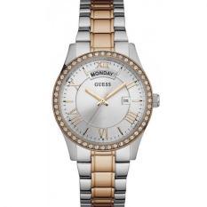 Guess W0764L4 Cosmopolitan - Jam Tangan Wanita - Silver - Rose - Gold - Diamond Krystal - Stainless Steel - Guess Watch