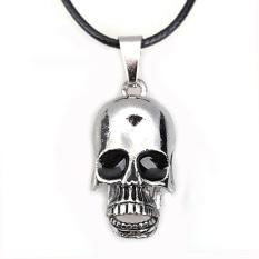 HAOFEI Movable Skull Jaw Pendant Necklace Boy Girl Jewelry Titanium SteelCool - Intl