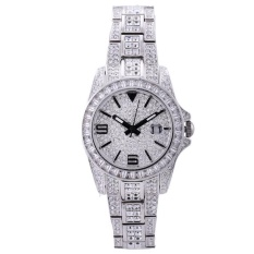 hazobau Davena di (DAVENA) Fashion Ladies Watch Bracelet Watch Watch Watch singles calendar Star Diamond quartz watch Lady silver watch (Silver)