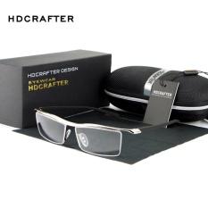 HDCRAFTER 2017 Eyewear Rimless Square Myopia Frame Glasses Frame Men Brand Comfortable Slip-resistant Eyeglasses Frames for Men E004 - intl