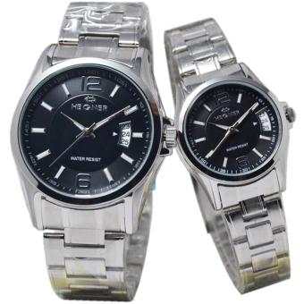 Hegner Couple Edition D43H400HG1237MLSP Date Jam Tangan Pasangan Stainless Steel - Silver