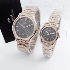 Hegner HGR1285 Original Watch - Jam Tangan Pasir Couple - Stainlees Steel [ Rose]