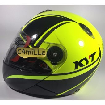 Helm Full Face KYT X Rocket #2 Yellow Fluo