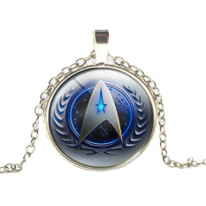 Hequ New Hot Fashion Time Gemstone Pendant Necklace Star Trek American Movies Around The Accessories Necklace Silver - Intl