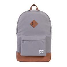 Herschel Heritage Classic Backpack - Abu-abu-Tan Synthetic Leather