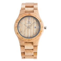 High Quality Treehut Men's Ebony Wooden Watch With All Wood Strap Quartz Analog Maple