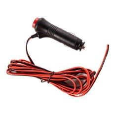 HKS 12.24V Male Car Cigarette Lighter Socket Plug Connector On Off Switch 3M