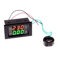 HKS Digital Volt Ampere Amp Meter Voltmeter Guage AC 100-300V / 200A Black (Intl)