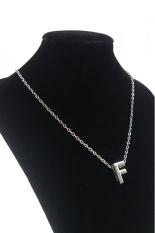 HKS DIY Letter F Pendant Necklace (Silver) (Intl)