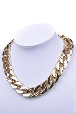 HKS Fashion Retro Gothic Punk Metallic Golden Chunky Link Chain Short Necklace (Intl)