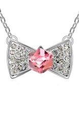 HKS HKS4175Qs Candy Bear Austria Crystal Necklace Light Rose (Intl)