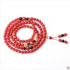 HKS Opening of natural red agate black agate beads bracelet Five co-op zodiac lucky mascot men and women - Zodiac Monkey (red agate)