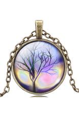 HKS Pendant Necklace Vintage Life Tree Glass Dome Cabochon IB1261 (Intl)