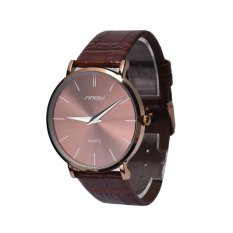 "HKS Sinobi Ultra-thin Case Men""s Causal Leather Quartz Watch 9140 Brown (Intl)"