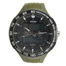 HKS SKMEI New Waterproof Mens Analog Digital LED Rubber Military Wrist Sports Watch (Intl)