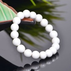 HKS Solid Natural White Clam Bracelet Male and Female Models Canal Car Lap Jewelry Bracelets Crystal Jewelry - Bead Diameter 8mm (Intl)