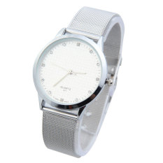 HKS Stylish Men Analog Quartz Wrist Watch with Rhinestone Decor White Dial (Intl)