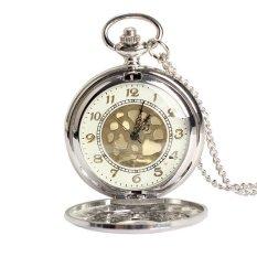 HKS Vintage Large Gold Face Pocket Watch Necklace Women Men Quartz Pocket Watch (Intl)
