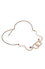 HKS Vintage Women Exaggerated Gold Plated Double Snake Short Necklace Choker