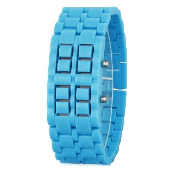 HKS Womens Light Blue Plastic Strap Watch SF8145482863AI (Intl)