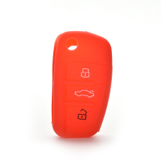 HomeGarden Car Key Case Cover Silicone For Audi A3 A4 A6 Tt Q7 R8 Red (Intl)