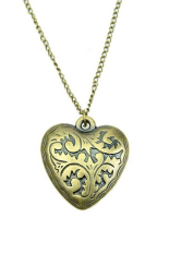 HomeGarden Heart Multilayer Retro Long Chain Necklace Gold (Intl)