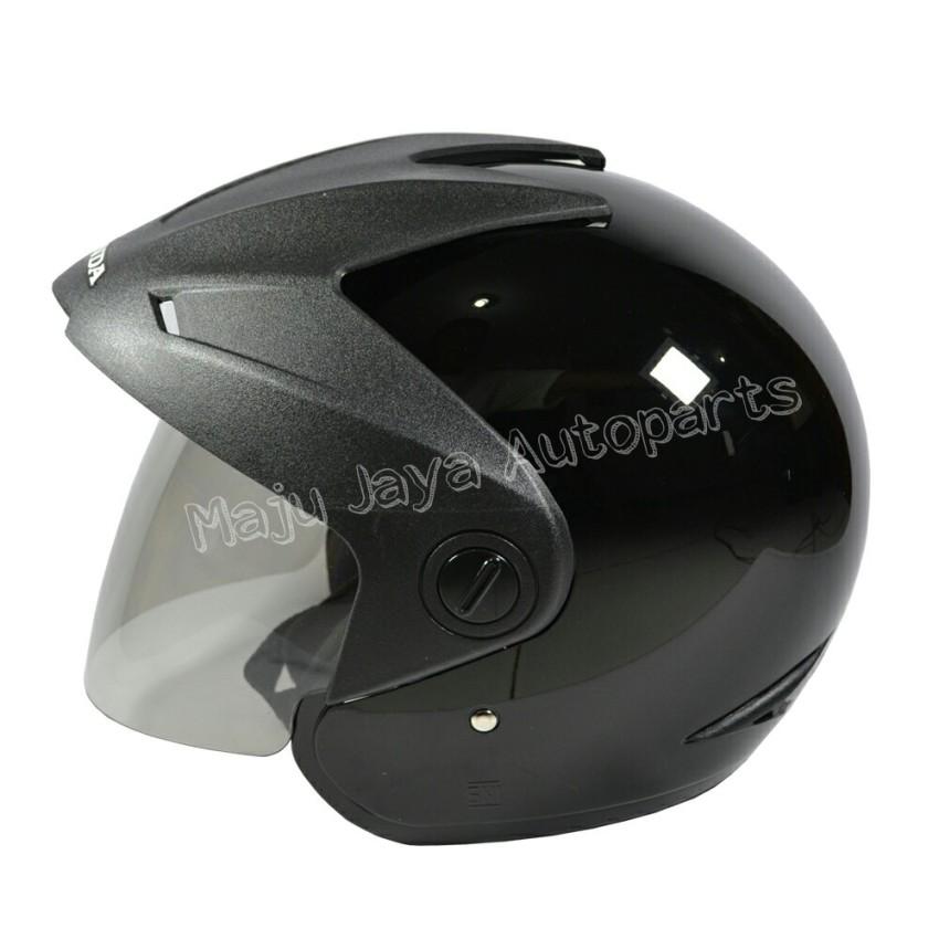 Honda Helm Half Face Trx-3 (black Glossy) - Helm Half Face